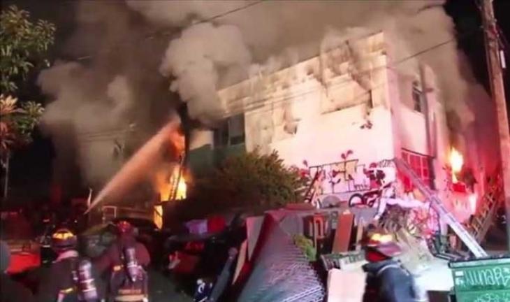 Kaliforniya'da bir partide yangın çıktı