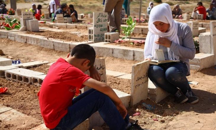 Kobanê'de hüzünlü bayram