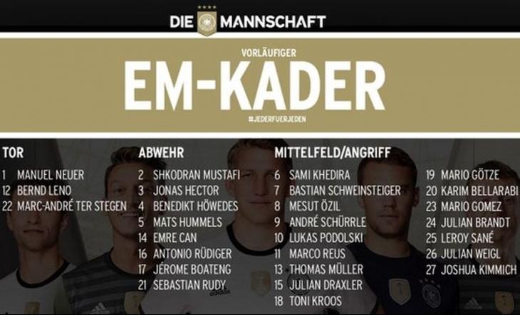 Almanya'nın aday kadrosunda Gomez ve Podolski de var