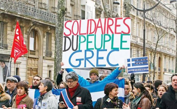 Avrupa halklarından  Yunanistan'a destek