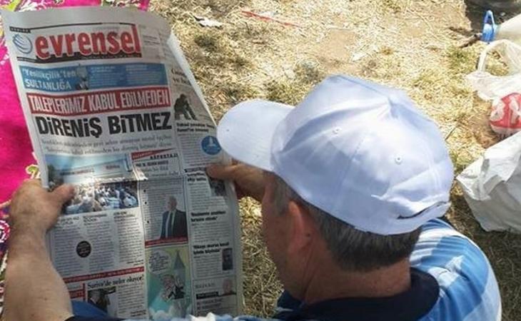 Talimat alan gazetelere karşı yaşasın Evrensel