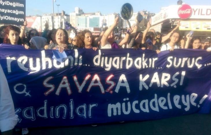 Kadınlar savaşa karşı mücadeleye çağırıyor