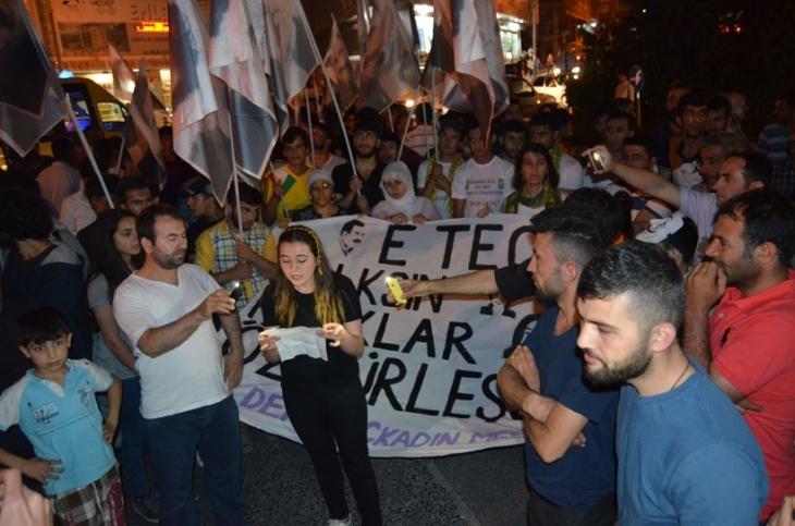 Esenyurt'ta Öcalan'a yönelik tecrit protesto edildi