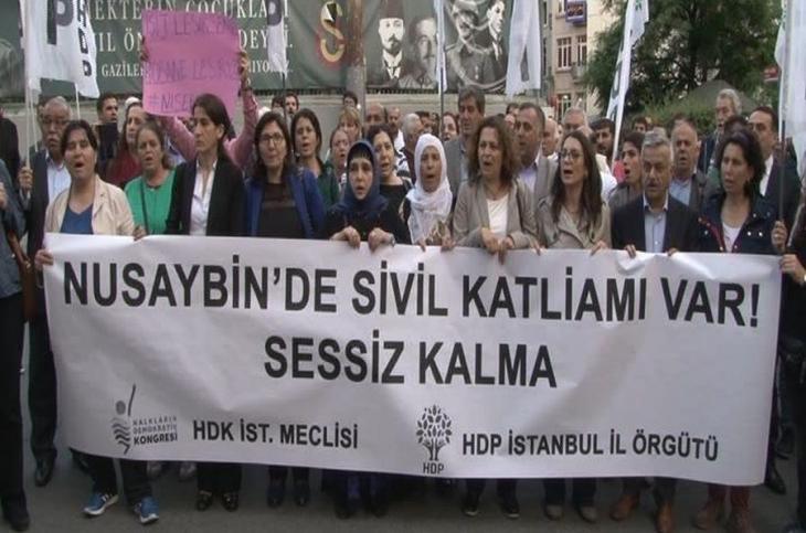 İstanbul'da 'Nusaybin'e ses ver' eylemi