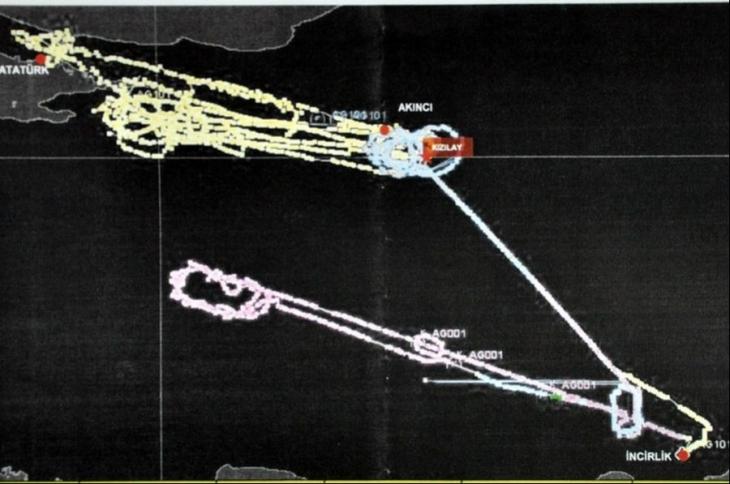 Darbe girişimi gecesi F-16'lara 20 kez yakıt nakli yapılmış