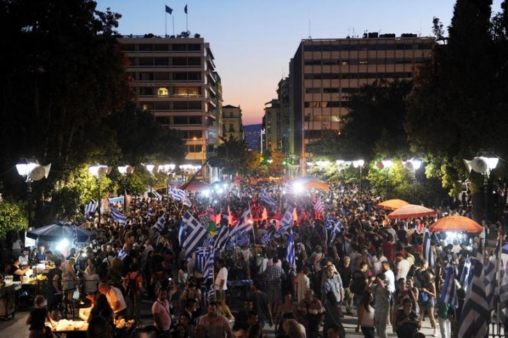 Yunanistan halkı kemer sıkmaya 'OXI/Hayır' dedi