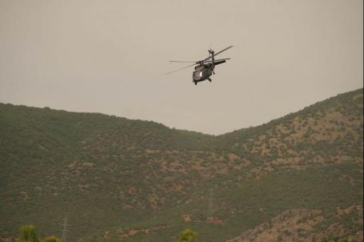 Dersim'de helikoptere ateş açıldı