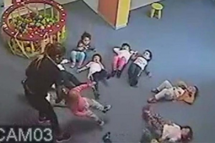 Samsun'da kreşte çocuklara şiddet iddiası