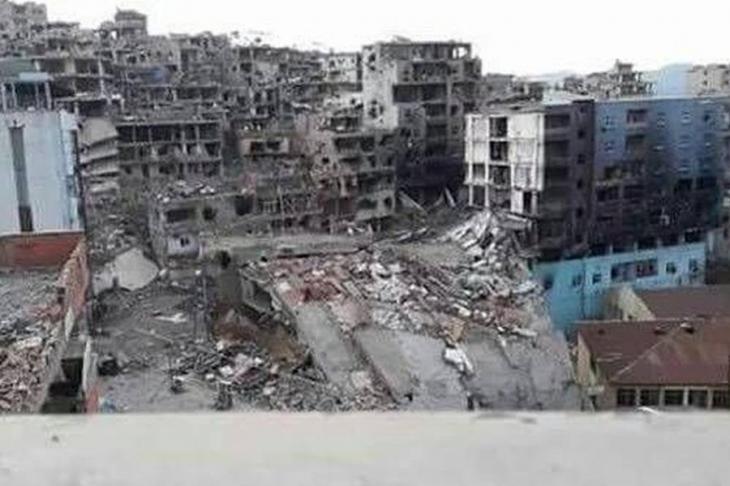 Yerle bir edilen Şırnak'ta yıkımın fotoğrafı