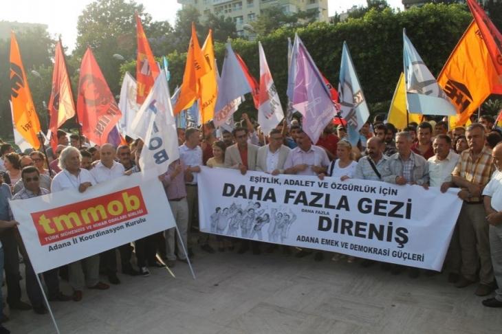 Adana'da Gezi'nin 3. yılında mücadeleyi yükseltme çağrısı