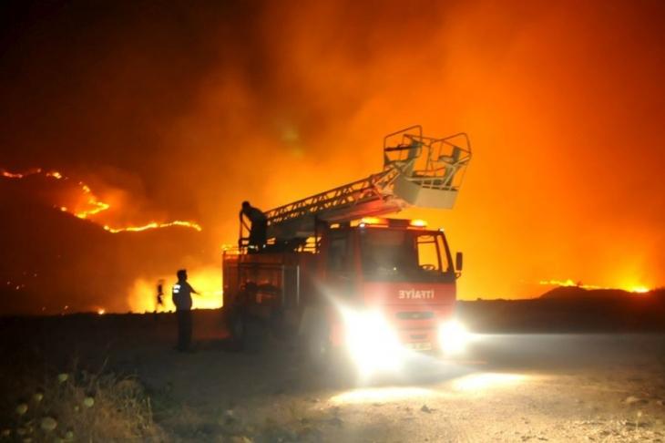 Bodrum'da yangın sürüyor