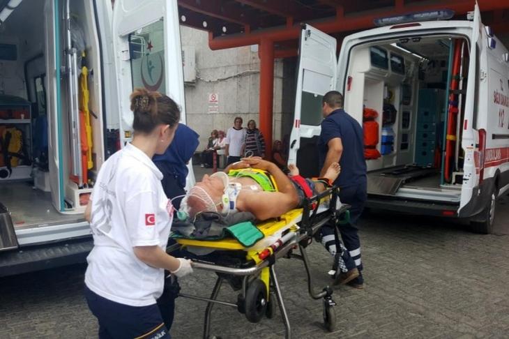 Düzce'de depo inşaatından düşen işçi yaralandı