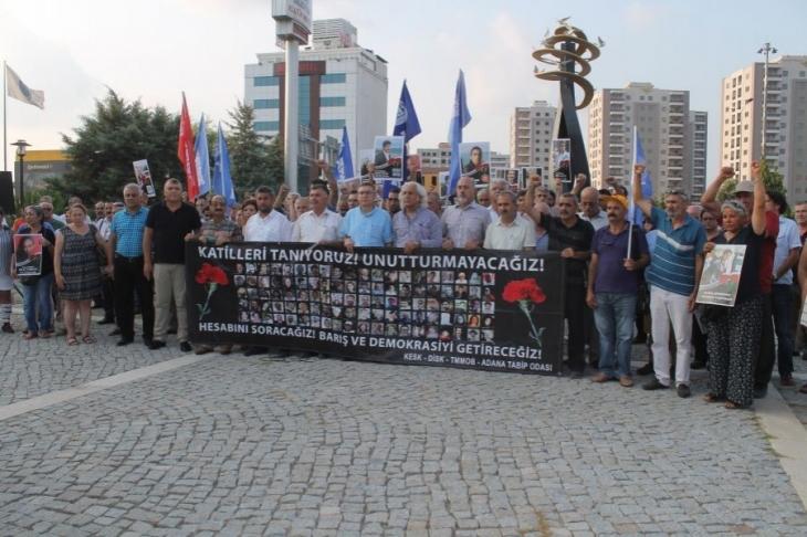 10 Ekim katliamında yaşamını yitirenler Adana'da anıldı
