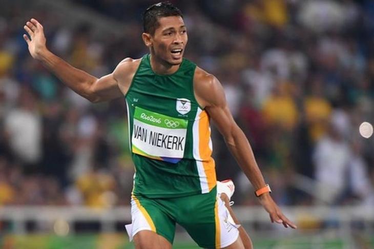 Erkekler 400 metrede rekor ve altın Van Niekerk'in