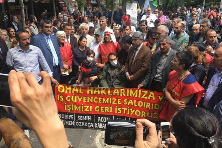 CHP'li vekiller Sarıbal ve Şeker'den açlık grevine destek