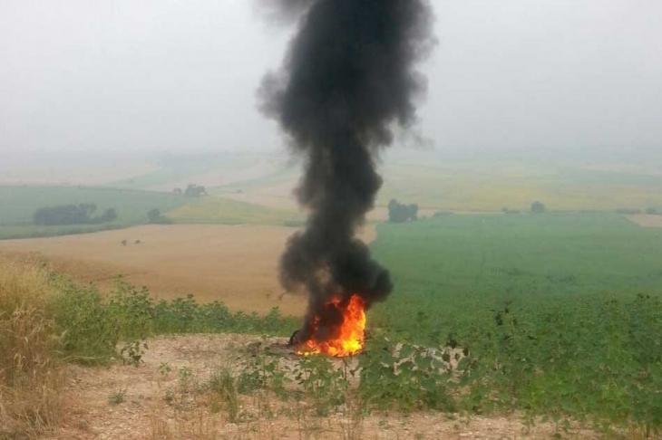 Petrol hattına hırsızlık için vana takılırken yangın çıktı