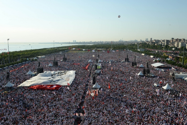 Millions stand up to Turkey's tyrant