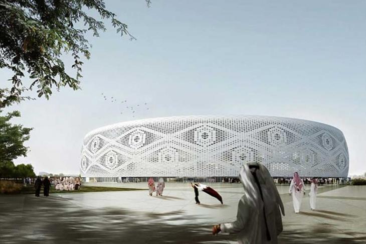 Katar, 'takke' biçimindeki stadyumu tanıttı