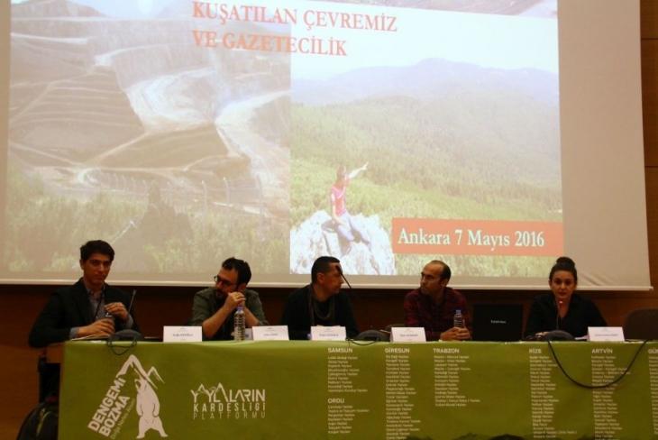 Çevre muhabirleri, çevre gazeteciliğini konuştu