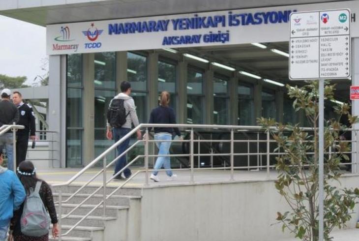 Marmaray'da polis şiddeti