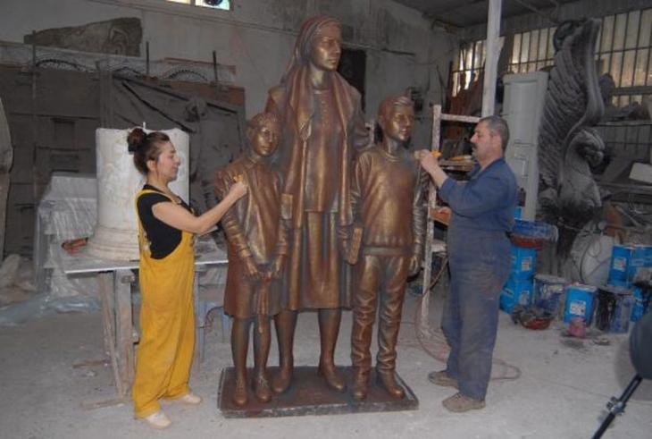 'Madenciye özlem' anıtı bitiyor