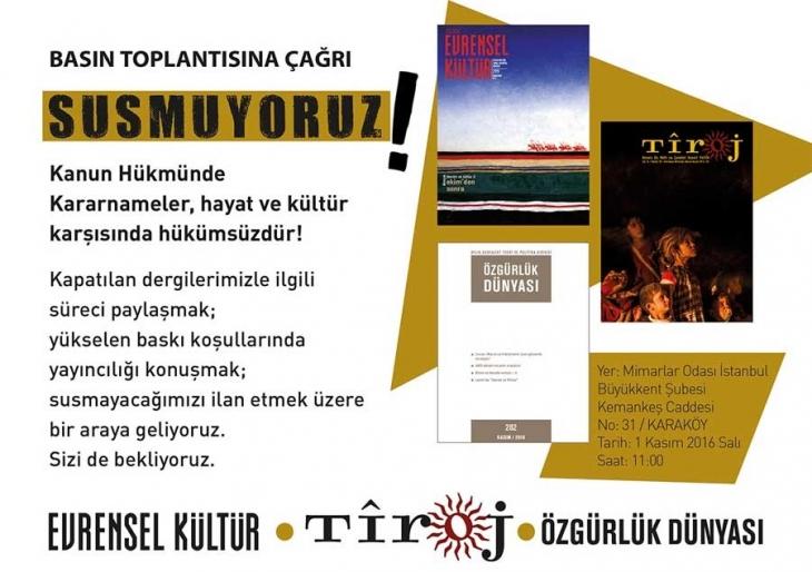 Evrensel Kültür, Tiroj ve Özgürlük Dünyası için açıklama