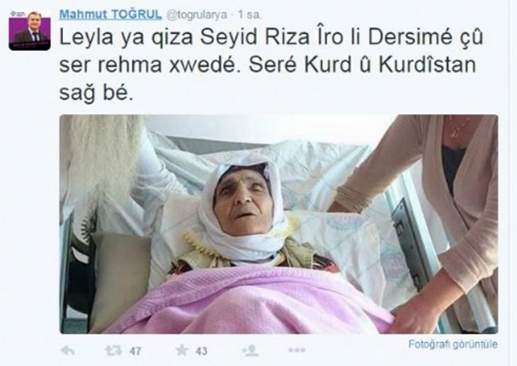 Seyit Rıza'nın hayattaki tek çocuğu vefat etti