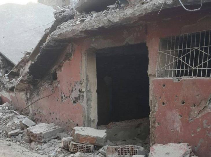 Cizre'de 31 cenazenin çıkarıldığı ilk bodrum görüntülendi