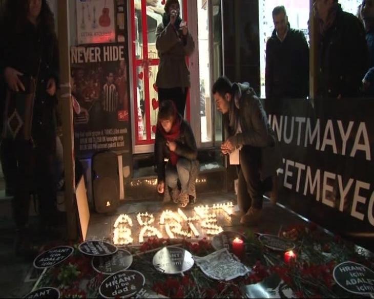 Hrant Dink için 'Adalet ve Barış Nöbeti'...