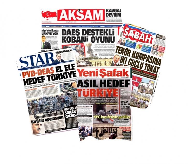 AKP medyası IŞİD'i yine  lanetleyemedi!