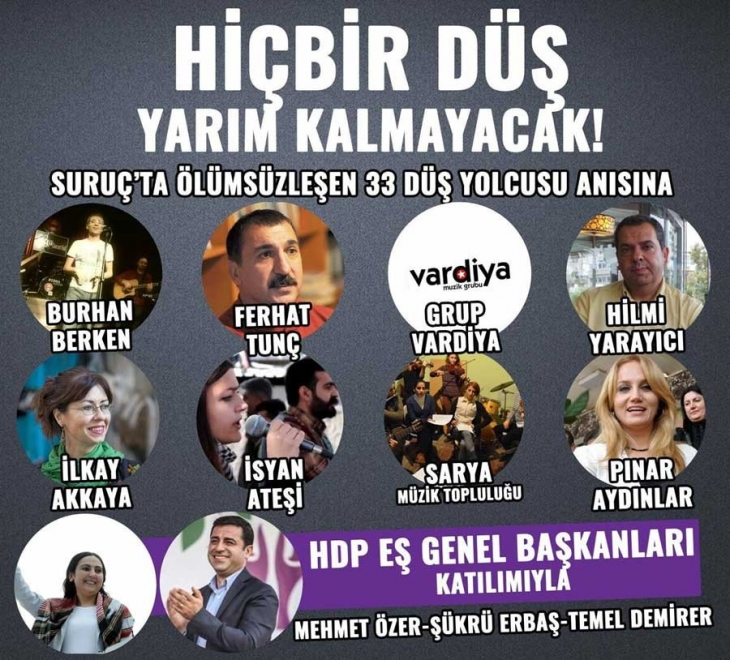 SGDF'nin İstanbul'daki Suruç etkinliğine OHAL engeli