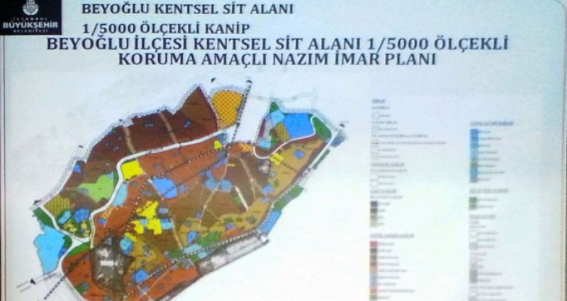 Taksim Meydanı ve Gezi Parkı plan sınırları dışında
