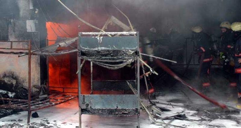 6 iş yeri yandı