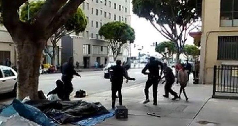 ABD'de polis bir evsizi infaz etti