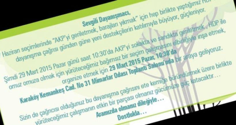 HDP ile dayanışma çağrısı büyüyor