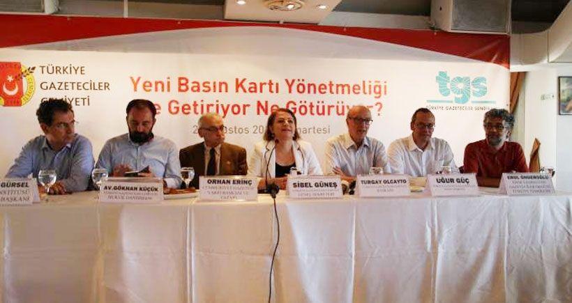 TGS ile TGC Basın Kartı Komisyonu'ndan çekildi