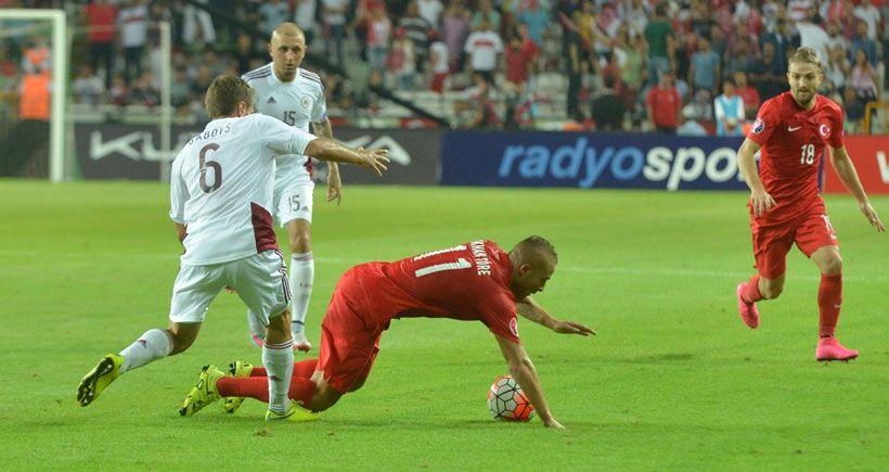 Türkiye Letonya ile 1-1 berabere kaldı