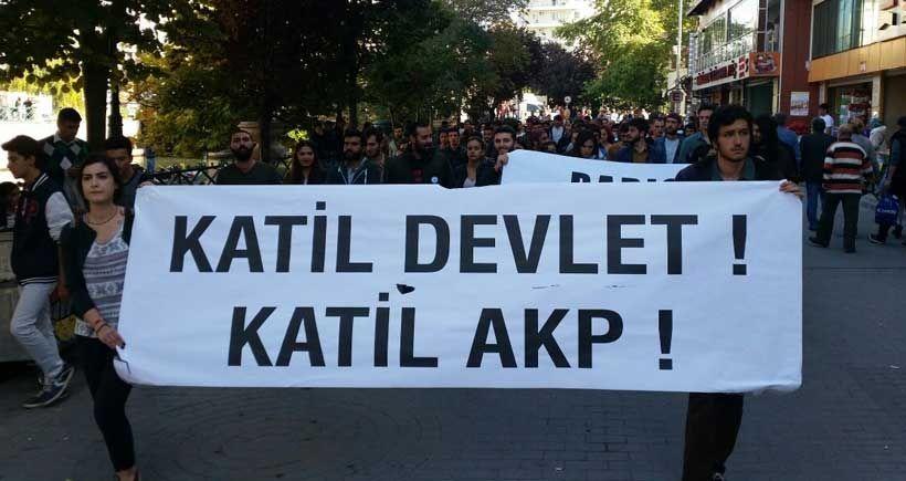 Ankara'daki katliam pek çok ilde protesto ediliyor