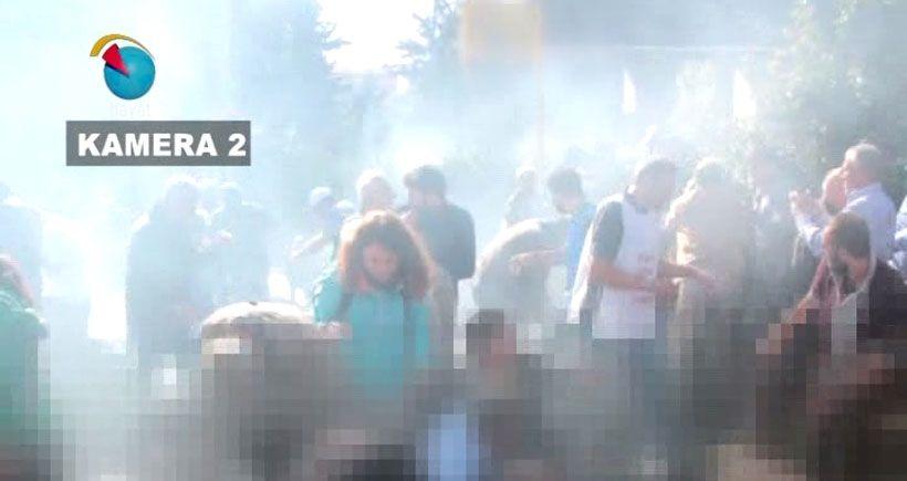 Hayat Televizyonu kameralarından Ankara'da polisin yaralıların üzerine gaz atma anı