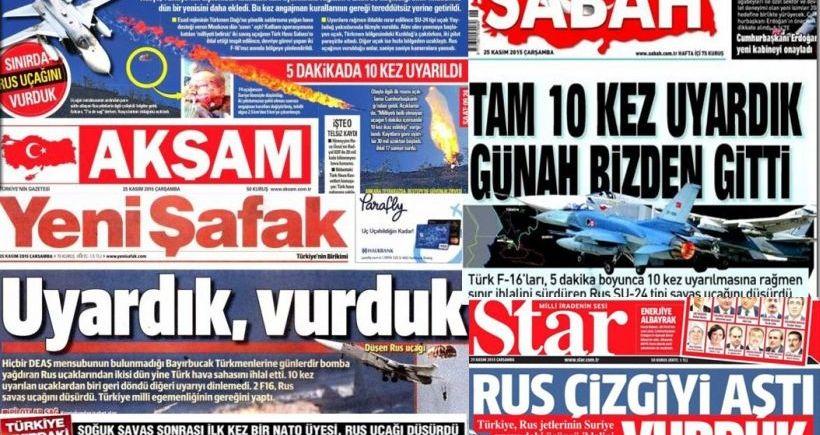 Gazeteler savaşa dünden razı