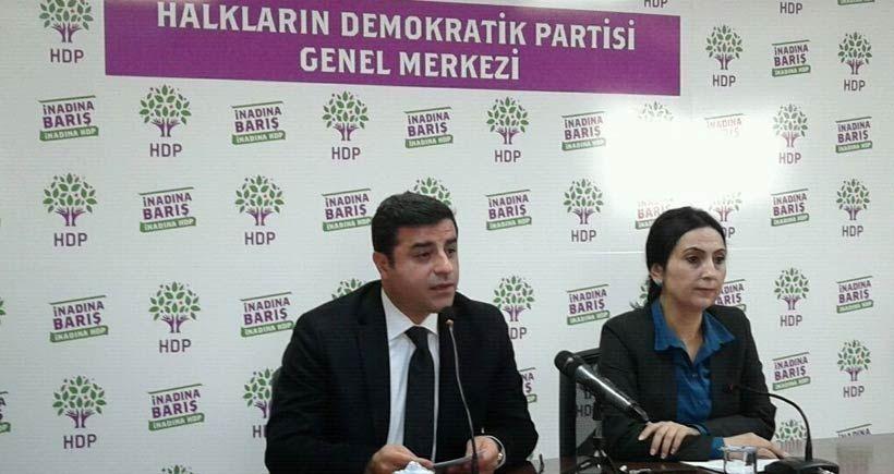 HDP'den Can Dündar ve Erdem Gül'e destek açıklaması