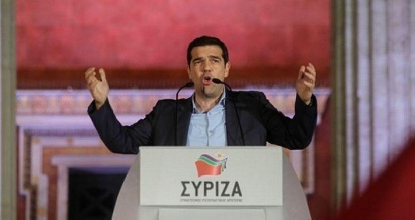 SYRIZA Lideri Çipras zafer konuşmasını yaptı
