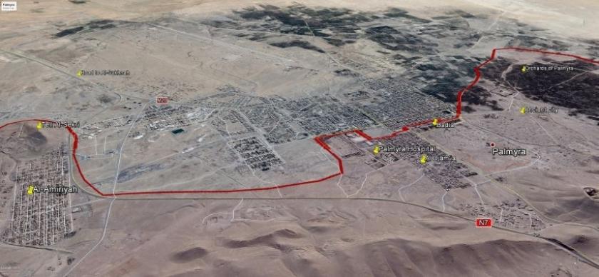 Suriye ordusunun Palmira'daki ilerleyişi sürüyor