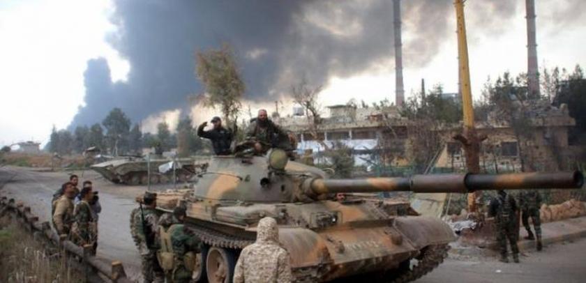 Suriye ordusu ve muhalifler Şam'da IŞİD'e karşı iş birliği yaptı