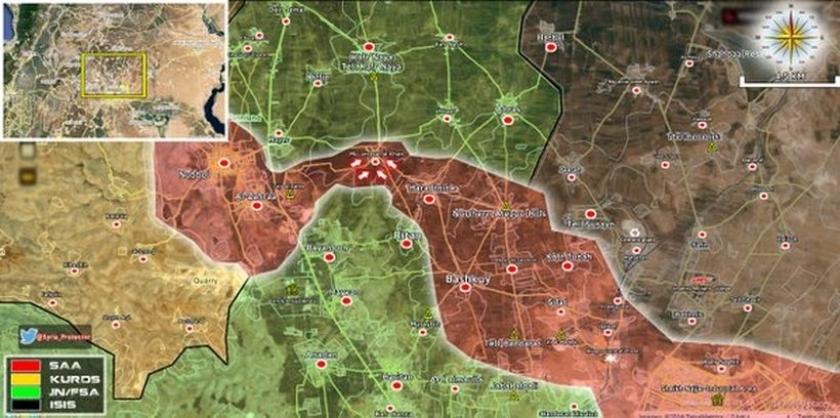 Suriye ordusu, Nubbul ve Zahra üzerindeki kuşatmayı kırdı