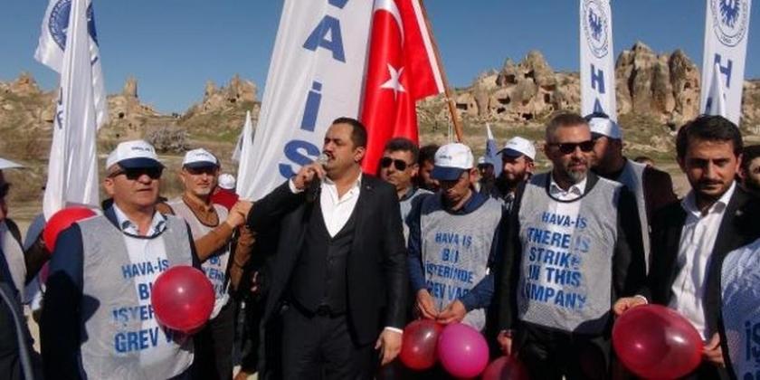 Hava-İş'ten Kapadokya'da grev mitingi