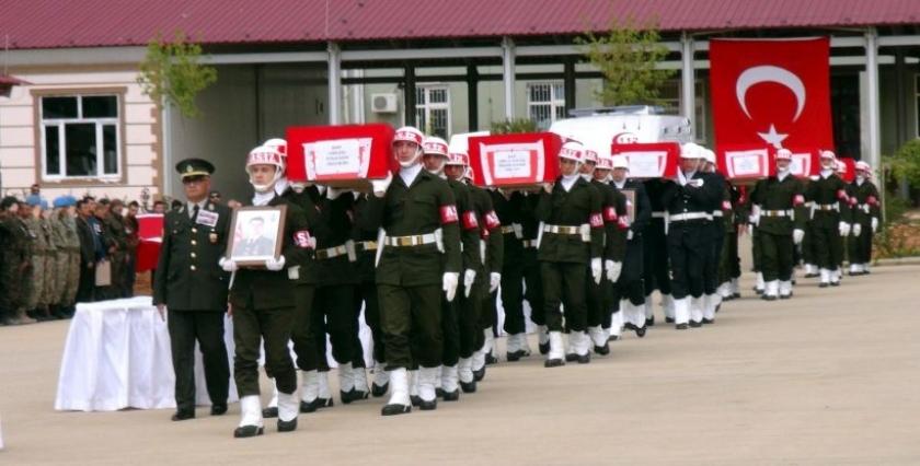Nusaybin'de yaşamını yitiren asker ve polisler için tören düzenlendi