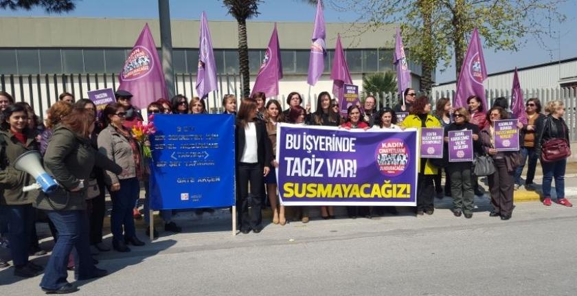 Tacize karşı fabrika önünde nöbet başladı