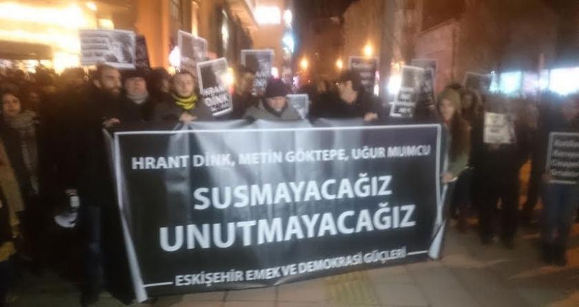 Katledilen basın emekçileri Eskişehir'de anıldı