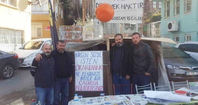İşten atılan Şişecam işçileri direnişe Mersin'de devam edecek